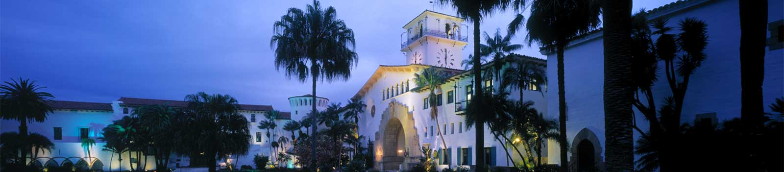 Santa Barbara Courthouse at night